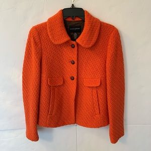 Banana Republic Wool Blend Orange Peacoat